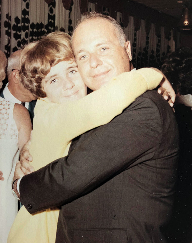 Howard Salzman with his daughter Carol at Linda's wedding October 6, 1968.