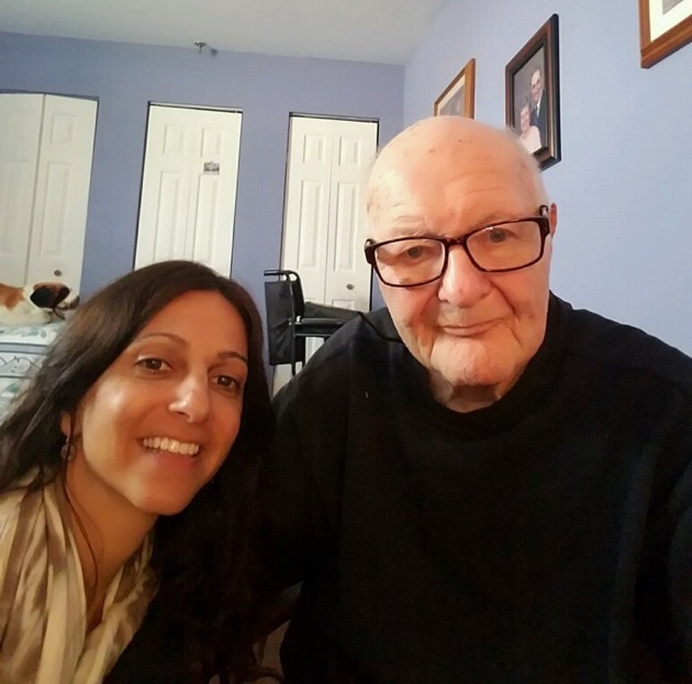 Howard Salzman with yoga teacher Paty Renda