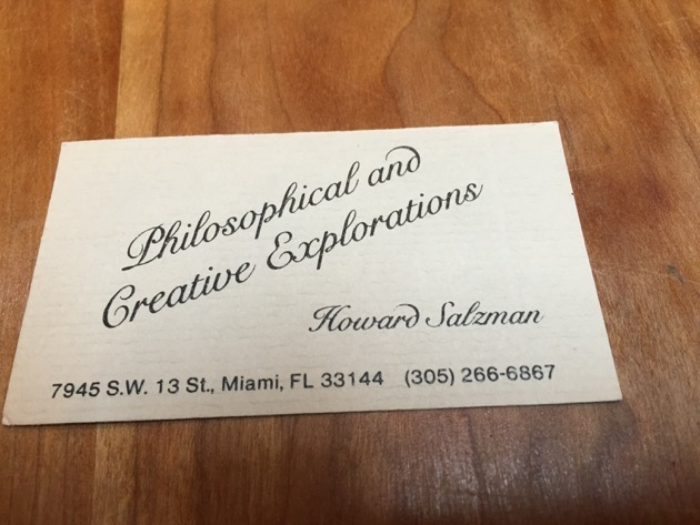 Howard's Philosophical and Creative Explorations card
